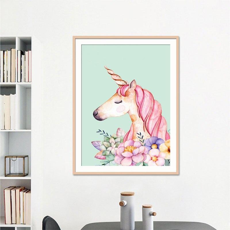 5D DIY diamond painting pink flamingos unicorn full drill square round diamond embroidery cross stitch mosaic picture