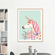 5D DIY diamond painting pink flamingos unicorn full drill square round embroidery cross stitch mosaic picture