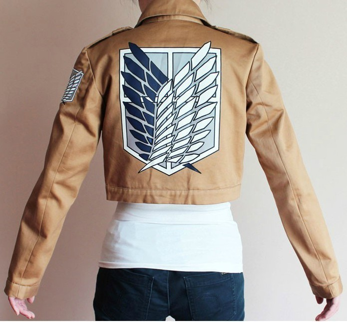 Wholesale Attack on Titan Shingeki no Kyojin Scouting cosplay Jacket halloween Party clothes cospaly costume 4pcs/lot