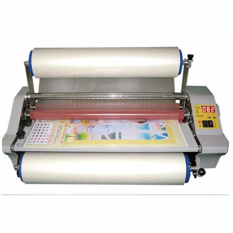 FM 480 di carta macchina di laminazione, Quattro Rulli, lavoratore di carta, file di office laminator.100 % Garantito foto plastificatrice 1 pz