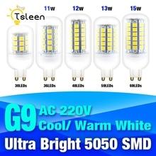 TSLEEN G9 Led Lamp 220V 9W 11W 12W 13W 15W Corn Light 5050 SMD LED Bulb Chandelier For Home Lighting