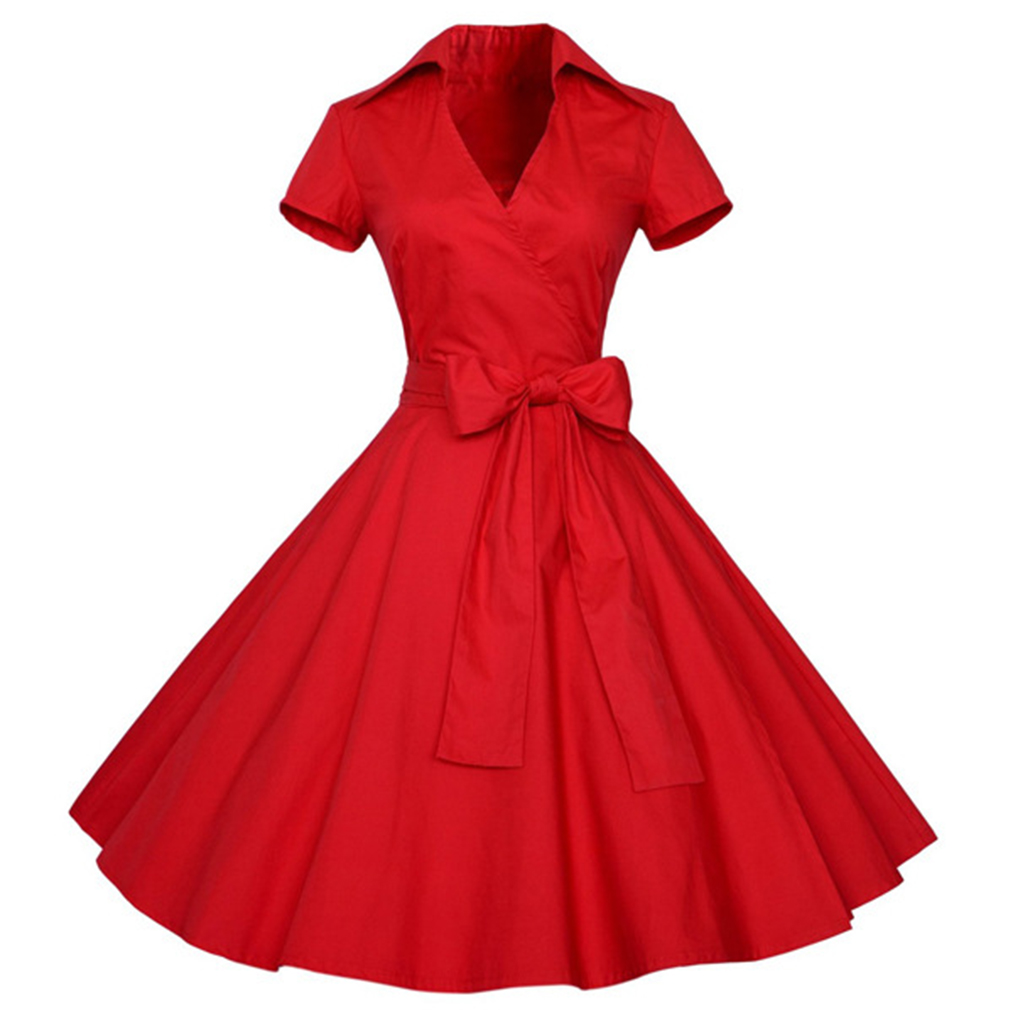 2017 sexy sommer dress frauen retro vintage dress elegante audrey hepburn kurzarm casual büro dress plus größe vestidos