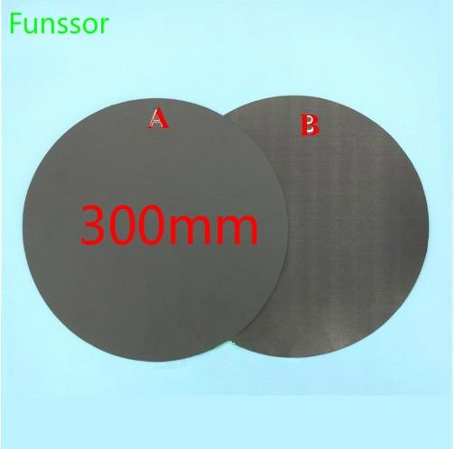 300 мм круглая магнитная клейкая печатная кровать лента печать наклейка сборка пластина лента FlexPlate A + B для DIY коссель/Delta 3d части принтера