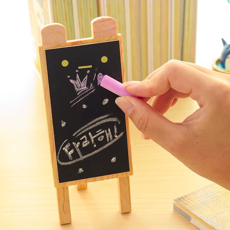 Mini Rabbit Black Board Small Blackboard Wooden Chalkboard Pizarra Tiza Quadro Negro Zakka Office Material School Supplies 6519