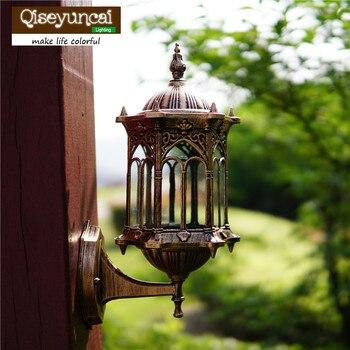 Qiseyuncai European style balcony wall lamp outdoor waterproof  background wall decoration outdoor aisle terrace lamp