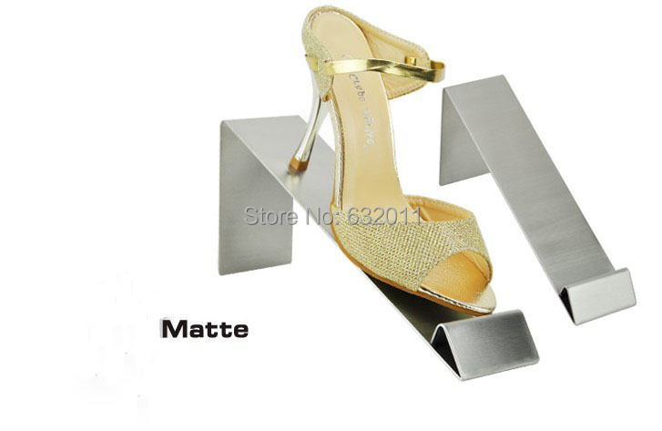 Matte surface stainless steel shoes holder support keeper metal shoe showing display rack stand matte surface stainless steel shoes holder support keeper metal shoe showing display rack stand shoes holder rack