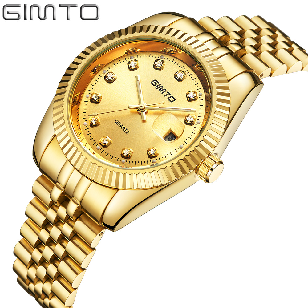Top Brand Luxury Gold Men' Watch Antique Stainless Steel  Quartz Man Golden Business Dress Wristwatch Casual Relogio Masculino bosck women s watch top brand business relogio masculino japan movment tungsten steel man watch dress casual quartz wrist watch
