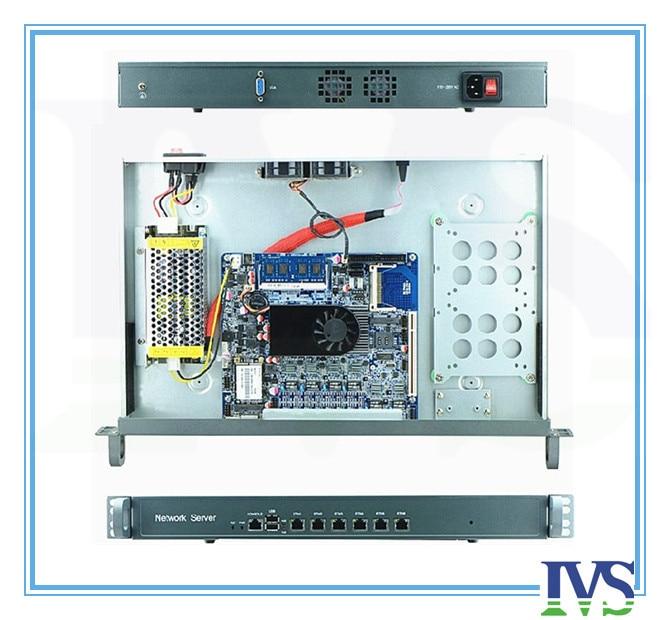 Высокая стоимость эффективным 1U маршрутизатор/сервер брандмауэр с Atom D525, 6 * Intel 82583 В 1000 Мбит/с Lan MB, 2 ГБ Оперативная память, 8 ГБ SSD карты, 120 Вт