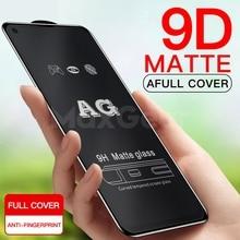 9D Anti parmak izi mat cam Oneplus 6 için T ekran koruyucu için buzlu temperli cam Oneplus 6 5 5T cam filmi