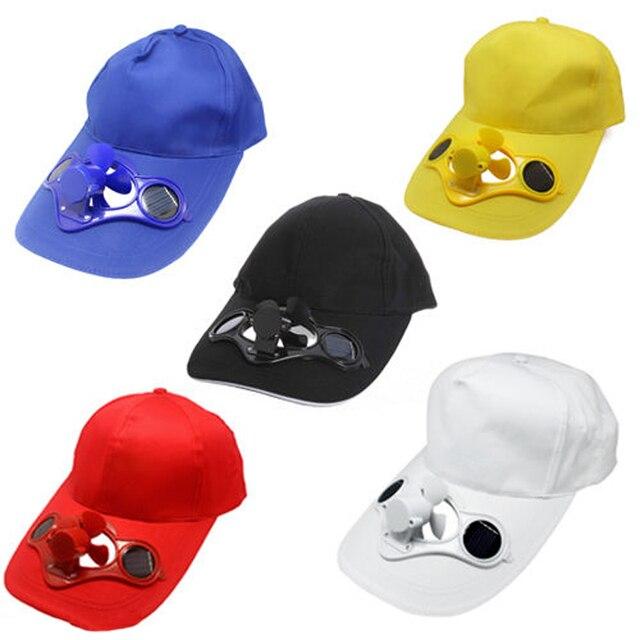 Cycling Bike headband Cap Summer Outdoor Solar Sun Power Hat Cap Cooling  Cool Fan For Golf Baseball Sport Gorra Ciclismo 941526ab5f4