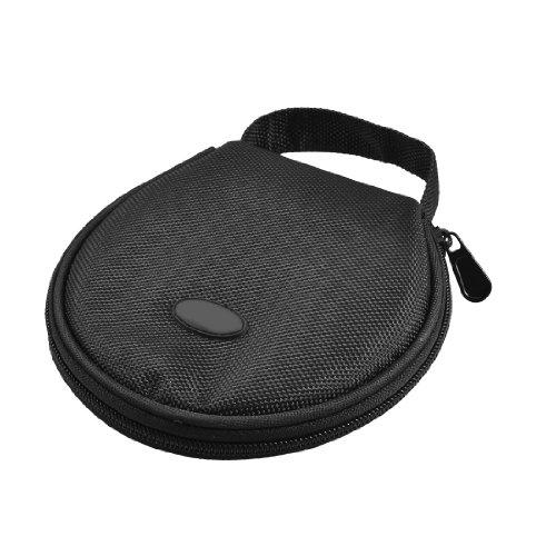 EDT- Home Car Zip up DVD CD Discs Holder Pocket Black Storage Bag
