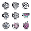 Authentic 100% 925 Sterling Silver Sparkling Multi-Colorido de Cristal Original Charme Fit Pandora Bracelet DIY Contas Fazer Jóias