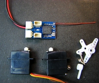 DSM2/DSMX receiver and 2g micro servo*2set Brush with 5A micro aircraft AIR PLANE DIY Plane
