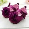 Детская кровать в обуви лето девочка ну вечеринку обувь цветок новорожденных девочек малыша тапочки хлопок дети Prewalker девочку первый уокер