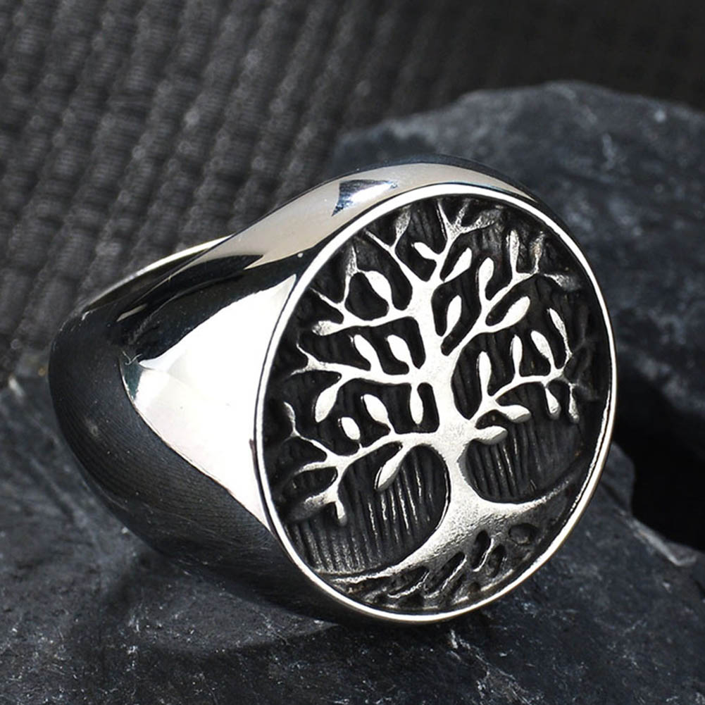 New Life Tree Titanium Stainless Steel Ring