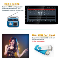 2 Din Multimedia Video Player Universal auto Stereo GPS Trackers Car Radio 9 Inch Full Touch Screen Mp5 Bluetooth USB Auto Radio