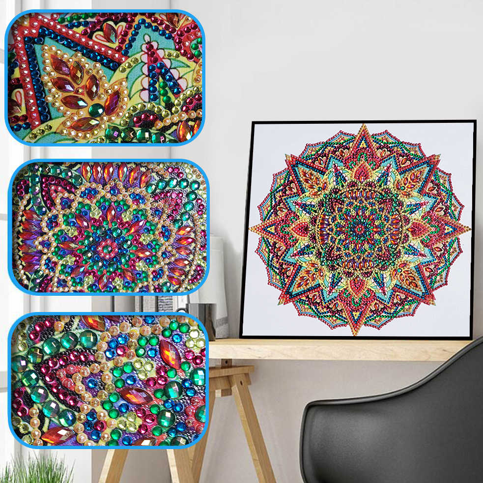 Special Shaped Diamond Painting DIY 5D Partial Drill Cross Stitch Kits Flowers Pattern Diamond Embroidery Crystal Arts Craft Hot
