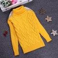 Nova Primavera 2 3 4 6 8 10Y O-pescoço de Malha da menina camisolas para crianças Completo Manga Pullover Camisola Menino Crianças Roupas KC-1547-13