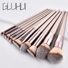 Professional Champagne Flame Makeup Brushes Set Cosmetics Foundation Powder Eyeshadow Concealer Blush Make Up Brush Kit Tools