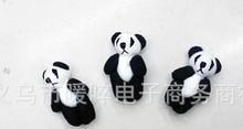 50pieces/lot 4 cm mini plush panda joints widgets Kung fu panda plush dolls black and white  pendant