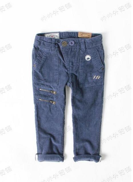 Новое прибытие Детские Вельветовые повседневные брюки Мальчиков Молния украшение брюки Бренда одежда Оптом