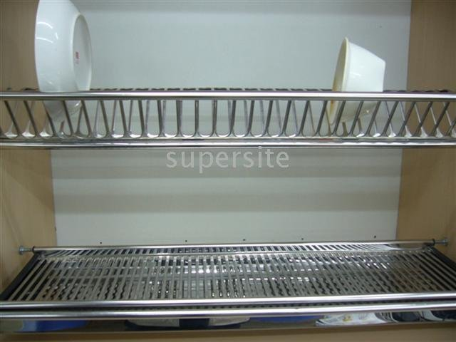 Stainless Steel Dish Shelf Bowl Rack Water Strainer For