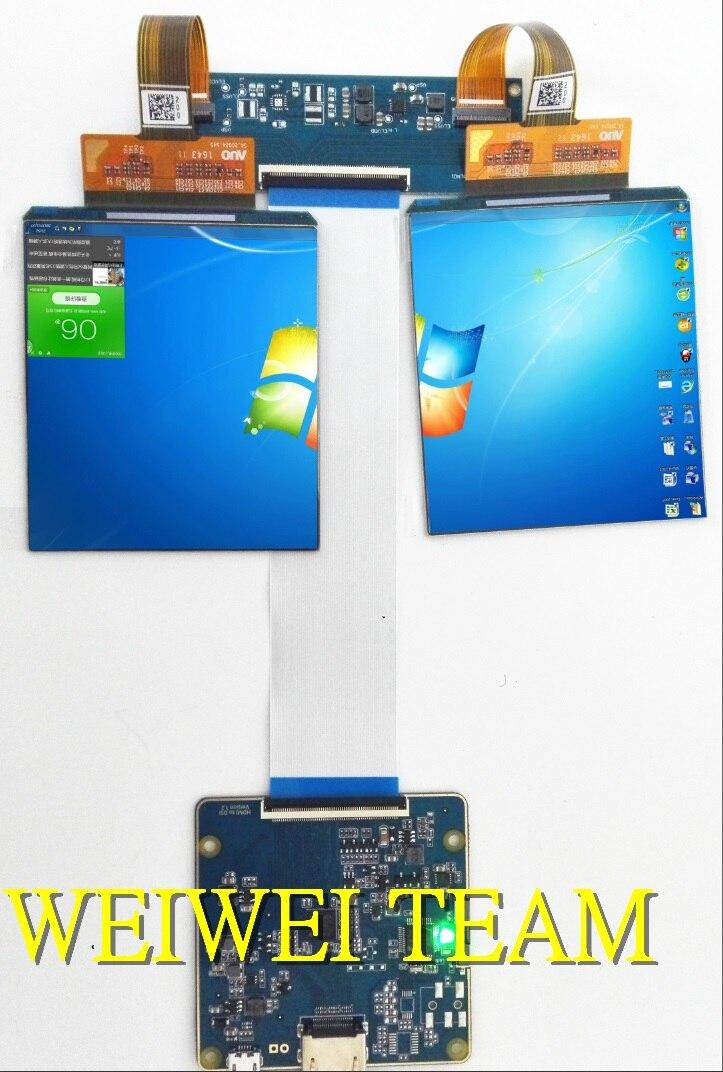 3.81 pouce 1080x1200 AMOLED screenn 3D VR visiocasque avec HDMI à MIPI conseil pour HMD TF38101A