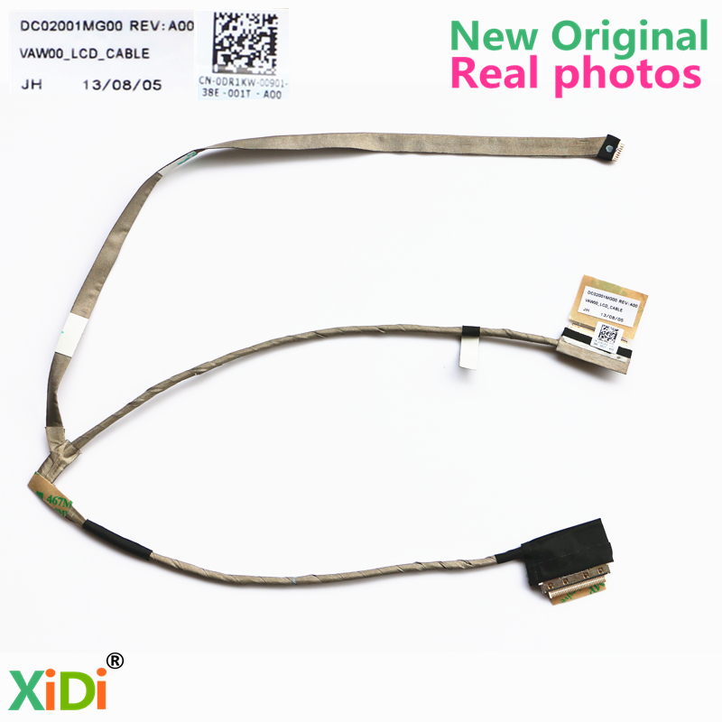 NEW LVDS CABLE FOR DELL INSPIRON 15R 3521 3537 5521 V2521D 5535 5537 DR1KW LCD LVDS CABLE VAW00 DC02001MG00 CN-0DR1KW brand new laptop for dell inspiron 15 15r 5521 5537 3537 3521 lcd back cover upper cover bezel case palmrest cover bottom case