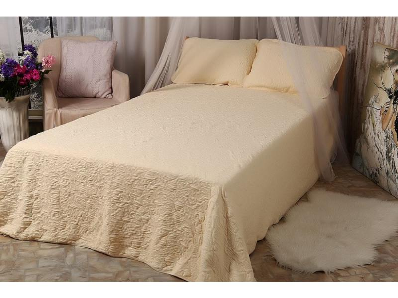 Bedspread knitted (cream)