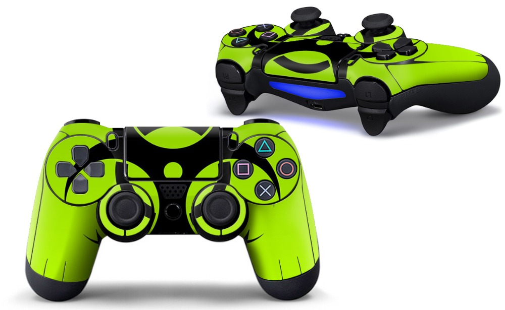 Best Price Supply Solid Green Skin Sticker For Playstation 4 For PS4 Controller Decal Games & Accessories TN-PS4QB-0020