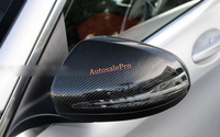 Левый руль из углеродного волокна боковой двери заднего вида Glassmirror Крышка Накладка для Mercedes Benz C Class W205 2014 2015