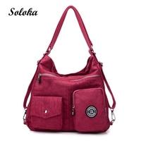 Hot 2017 Nylon Large Capacity Women Double Shoulder Bags High Quality Messenger Bags Female Handbags Famous