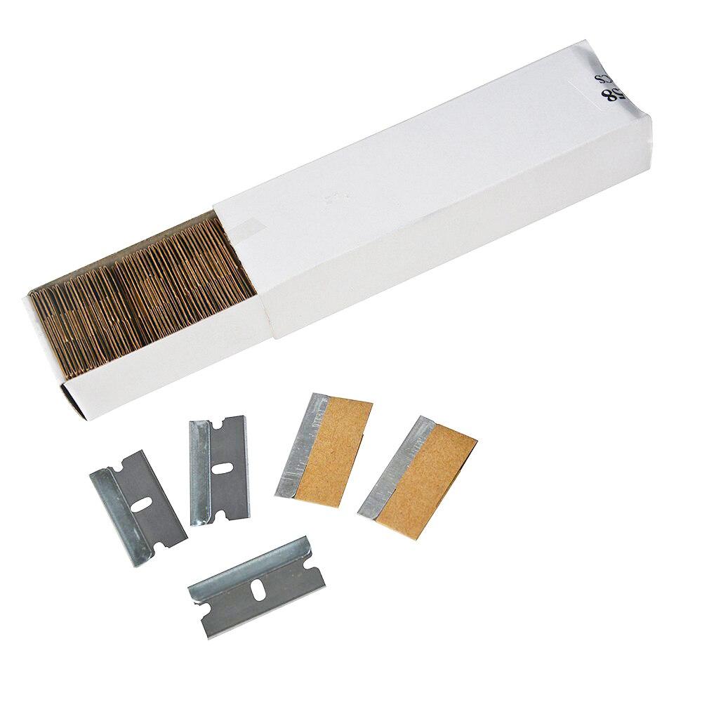 EHDIS 100pcs 1.5inch Steel Razor Blade Vinyl Wrap Blades Professional Car Tinting Tools Car Film Wrapping Razor Scraper CN058 цена