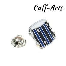 Cuffarts Music Drum Lapel Pin For Men Brooches 2018 Fashion Shirt Jewelry Party High Quality Pines Metalicos P10093