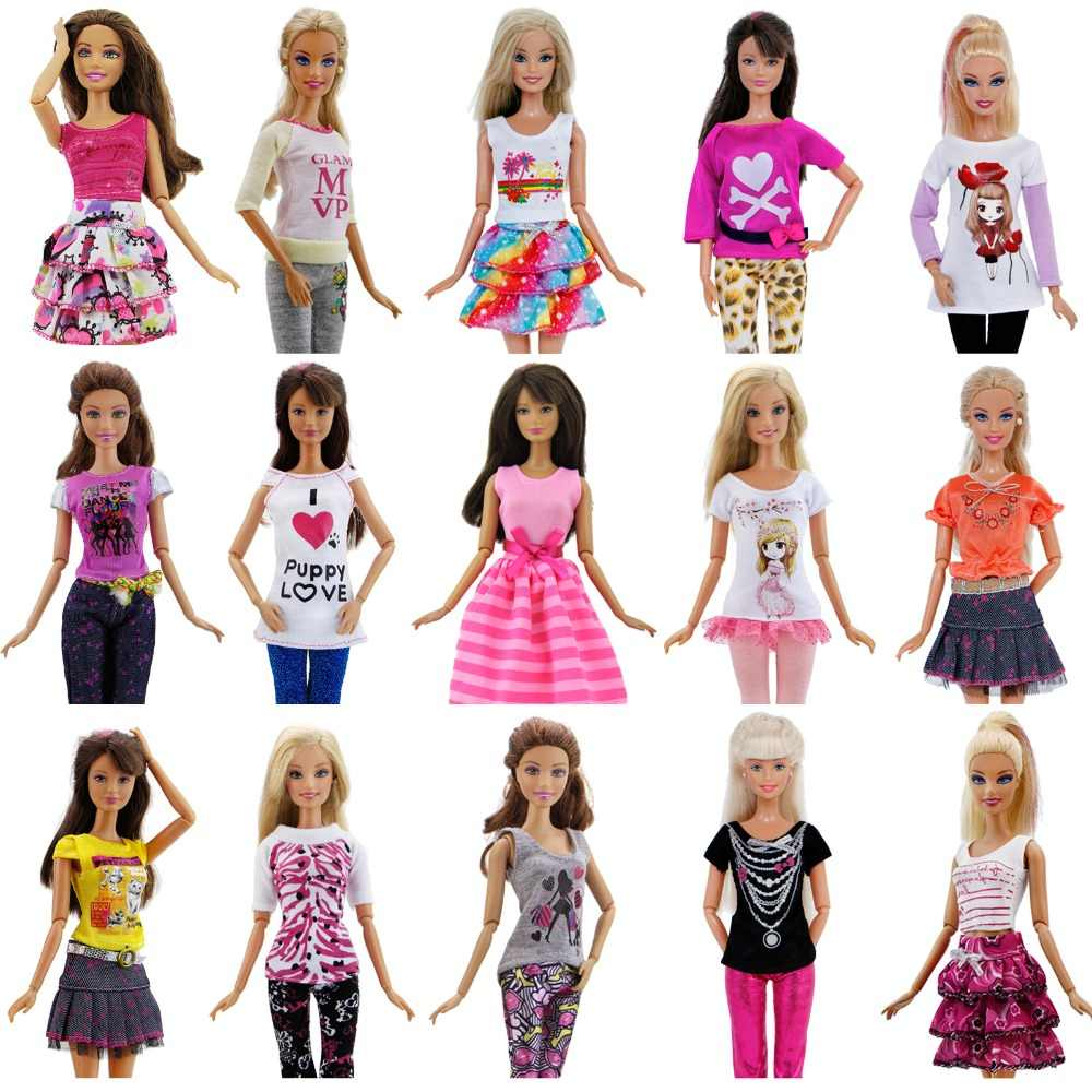Hot Fashion Handmade Party High Quality Dress Accessories Clothes For Barbie  Doll Cloth Christmas Gift Girl 93f6e3cd077b