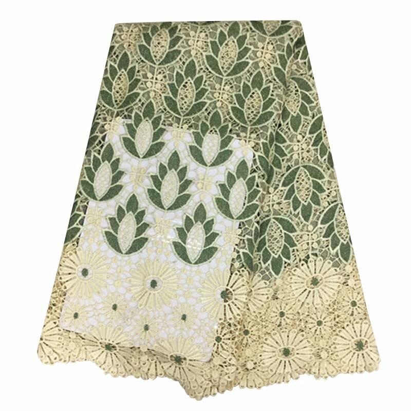Multi couleur de haute qualité lacet Africain tissus, date guipure dentelle tissu brodé cordon tissu pour robe YJ38 617 dans Dentelle de Maison & Jardin
