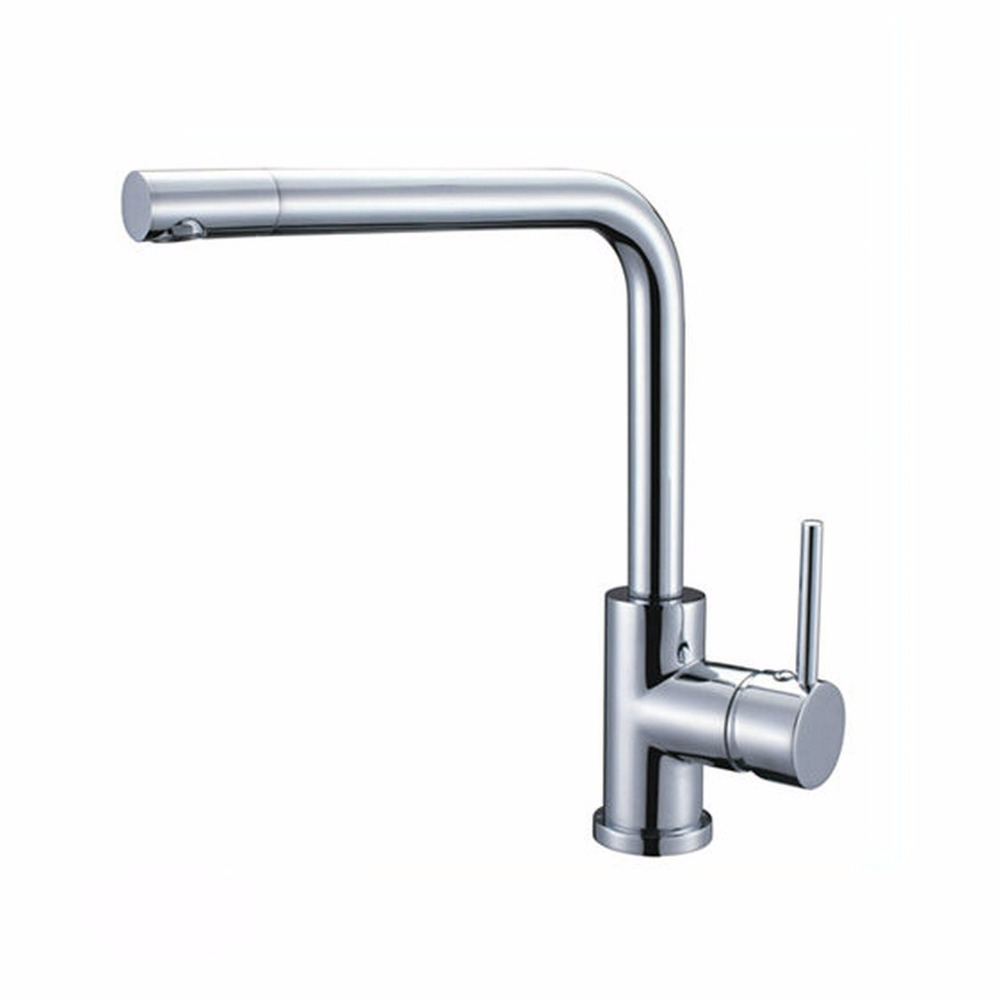AU 360 Swivel Spout Chrome Brass Taps Deck Mounted Vessel Sink Mixer Tap Kitchen Basin Sink Faucet Hot & Cold Mixer newly contemporary solid brass chrome finish arc spout kitchen vessel sink faucet thermostatic faucet mixer tap deck mounted