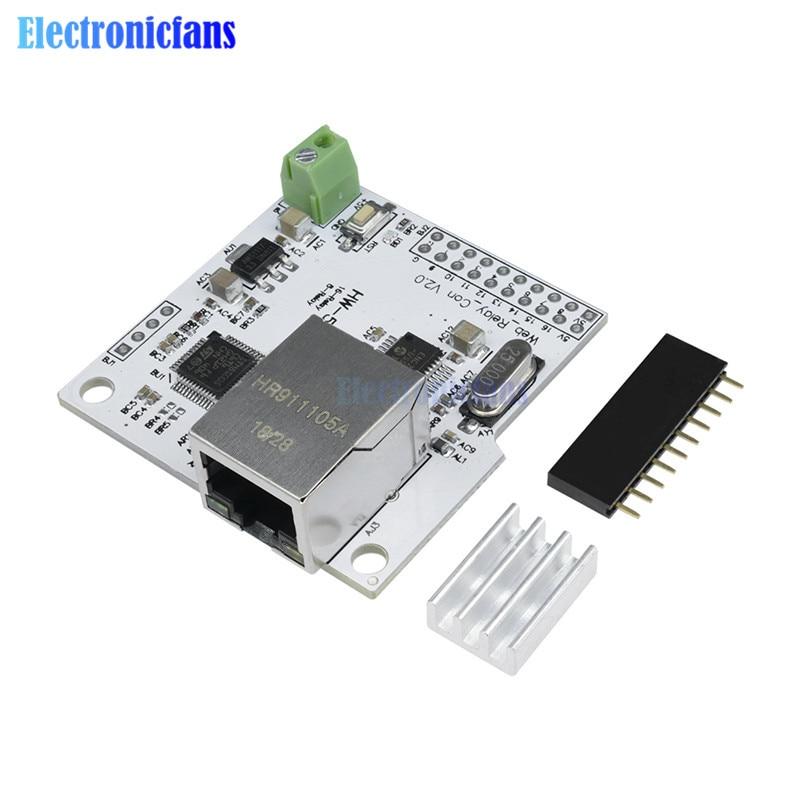 8 Channel ENC28J60 28J60 W5100 RJ45 Network Relay Control Switch 5V Internet Relay Module P2P WIFI Module Mobile Phone Control