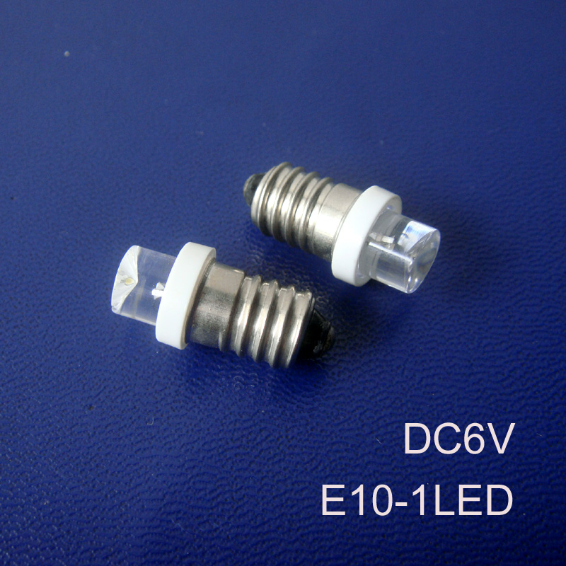 High quality 6Vdc E10 led Indicator lights,LED E10 Warning lights E10 bulb led 6.3v E10 led Pilot lamps free shipping 500pcs/lot