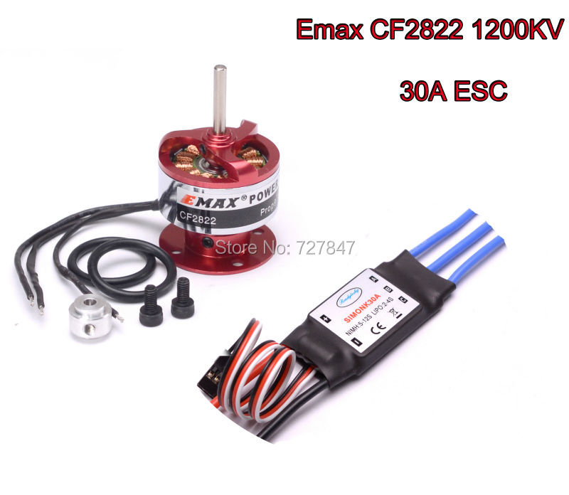 30A SIMONK ESC EMAX CF2822 1200KV Brushless Motor with accessories for Xcopter Multi free shipping