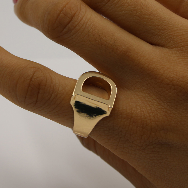 New Arrive Top Quality Fashion Initial Gold Rings for Women D