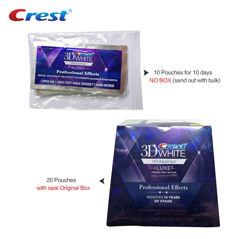 Image 4 - 3D White Whitestrips LUXE Strong Grip Professional Effects Oral Hygiene Perfect Smile Teeth Whitening Strips 5/10/20 Pouches-in Teeth Whitening from Beauty & Health