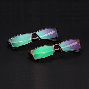 Image 2 - Reven jate b2037 남자와 여자를위한 광학 안경 프레임 안경 처방 안경 rx 합금 프레임 안경 전체 테두리