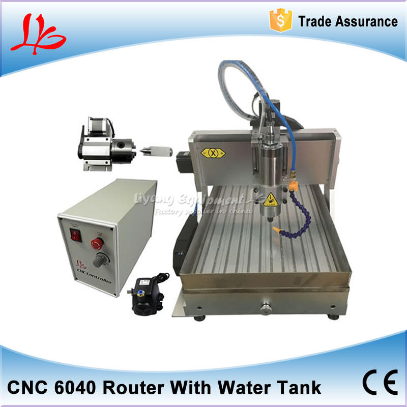 Russia tax free 1500w CNC Router 6040 USB metal cutting Woodworking Machinery  With Rotary Axis 110V 220V free tax