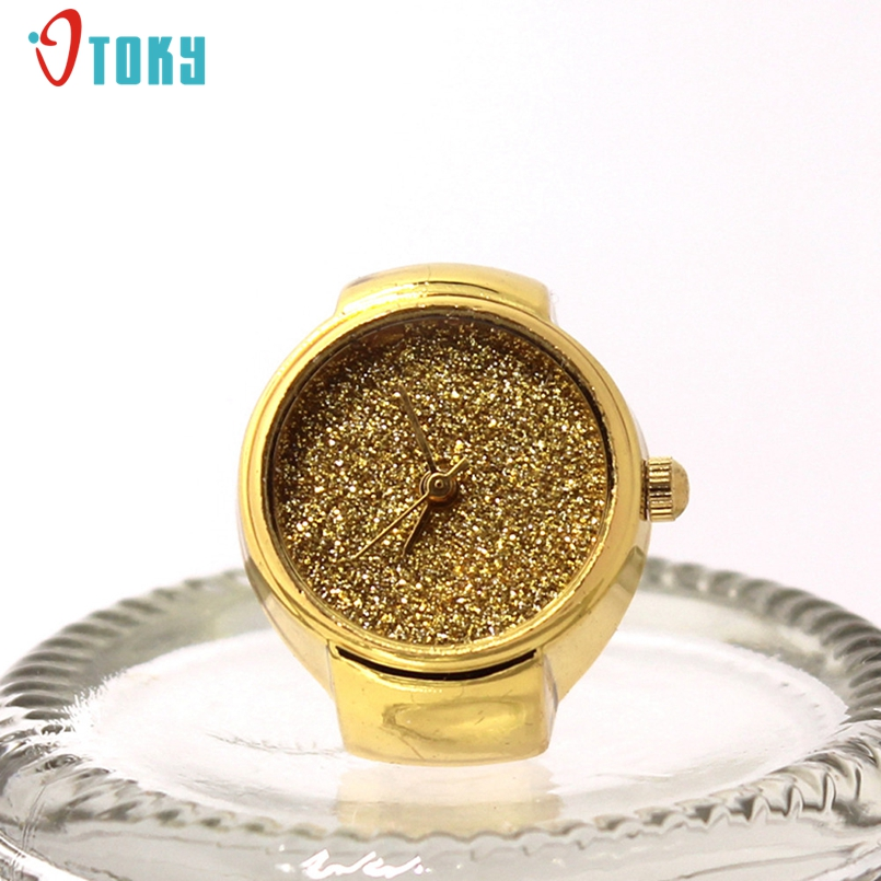 New Arrive Ring Watch Quartz Analog Watch Creative Steel Cool Elastic Quartz Finger Ring Watch Promotional Gifts #N03