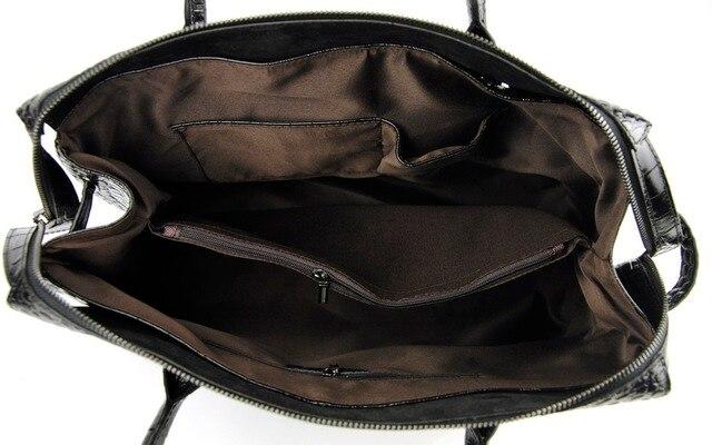 Women Nappa Split Leather Shoulder Satchel Handbag Fashion Crocodile Pattern Purse Designer Alligator Bags Lady Daily Work
