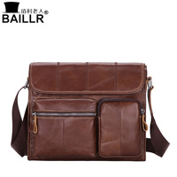 BAILLR Brand Men S Crossbody Bag 100 Genuine Leather Travel Bags Casual Business Travel Male Messenger