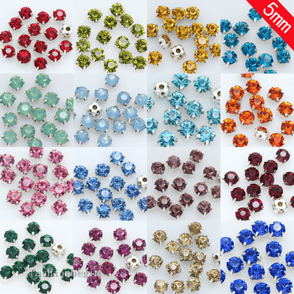 Hearty 200p 4mm Sew On Flatback Crystal Glass Cup Claw Garment Dress Rhinestone Jewelry Montees Silver Base Beads Craft Gem Multi-color Beads Beads & Jewelry Making