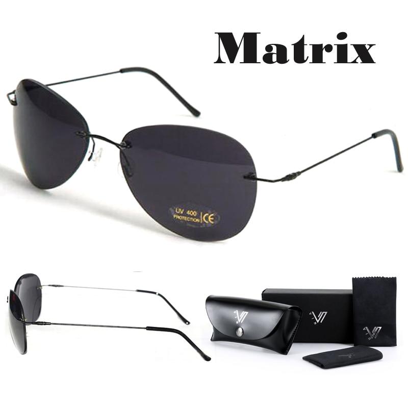 Polarized Matrix Morpheus Sunglasses Movie sunglasses men Neo Ultralight  Rimless Classic glasses Oculos Gafas De Sol f41038da6b