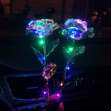 Romantic Colorful LED Fairy Rose Artificial Galaxy Flowers for Girl Friend Valentines Day Gift Wedding Party Home Decor